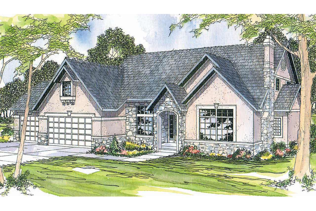 European House Plan - Manchester 10-183 - Front Elevation