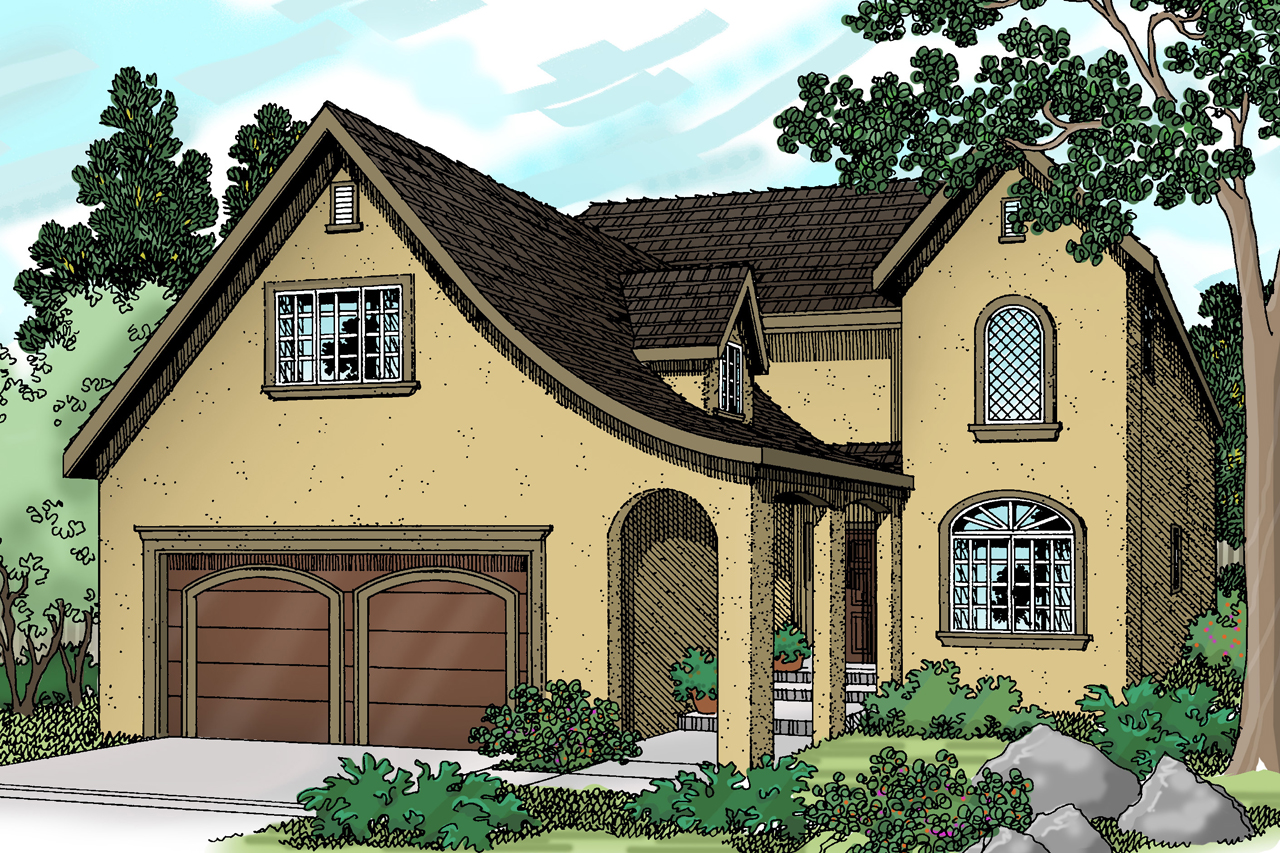 Captivating European House Plan   Mirabel 30 201   Front Elevation ...