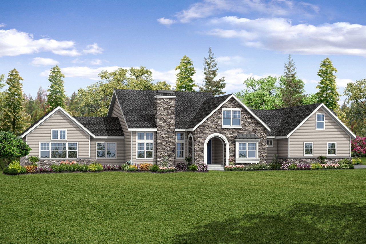 New House Plan, European Home Plan, Pronghorn 30-917