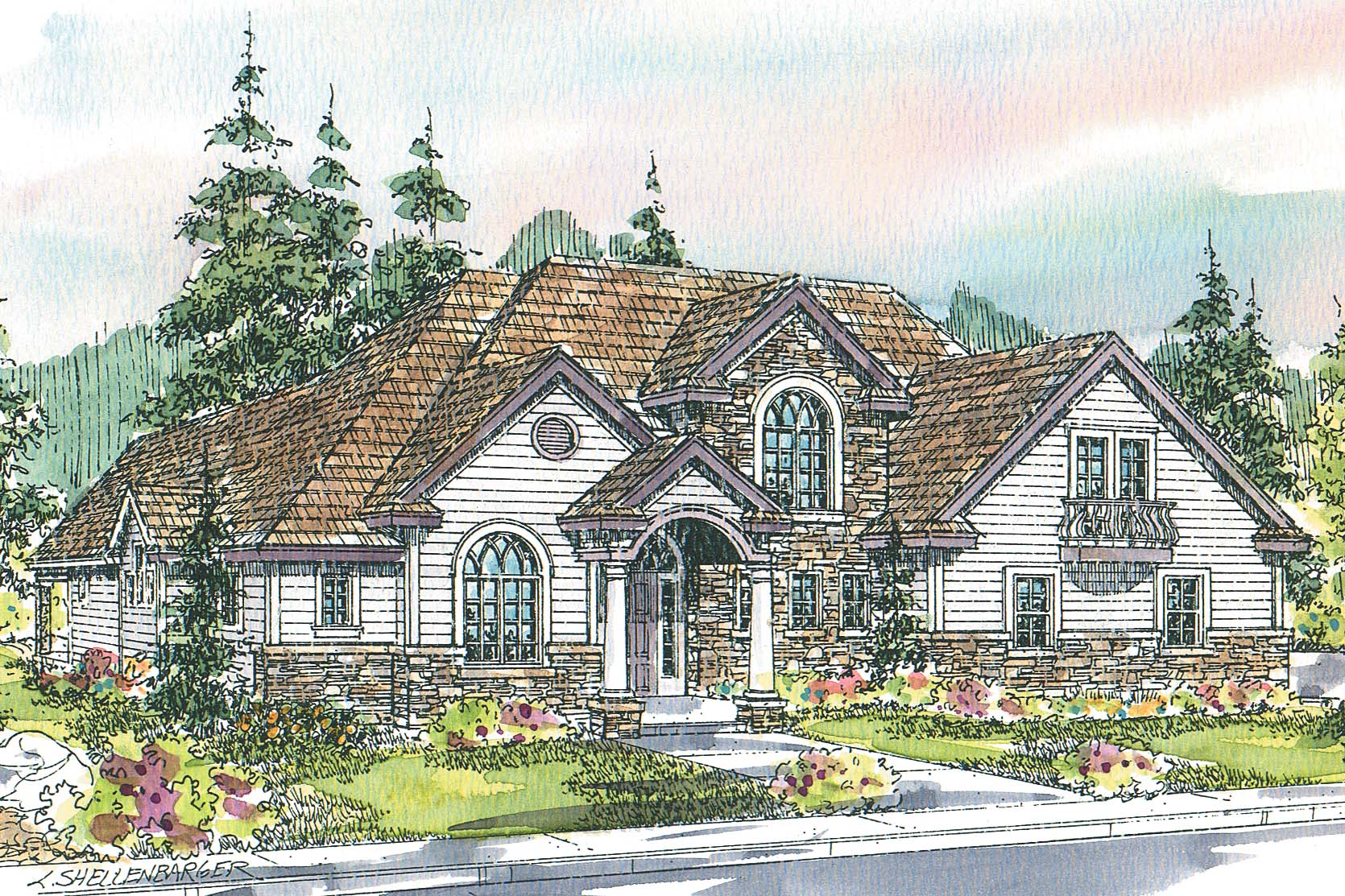 European House Plan, Home Plan, Featured House Plan of the Week, Southwick 30-482