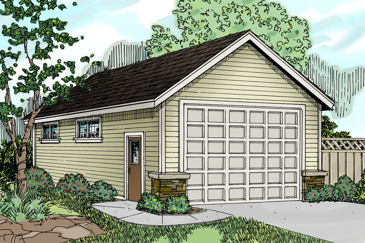 Traditional house plans rv garage 20 030 associated for Rv cottage plans