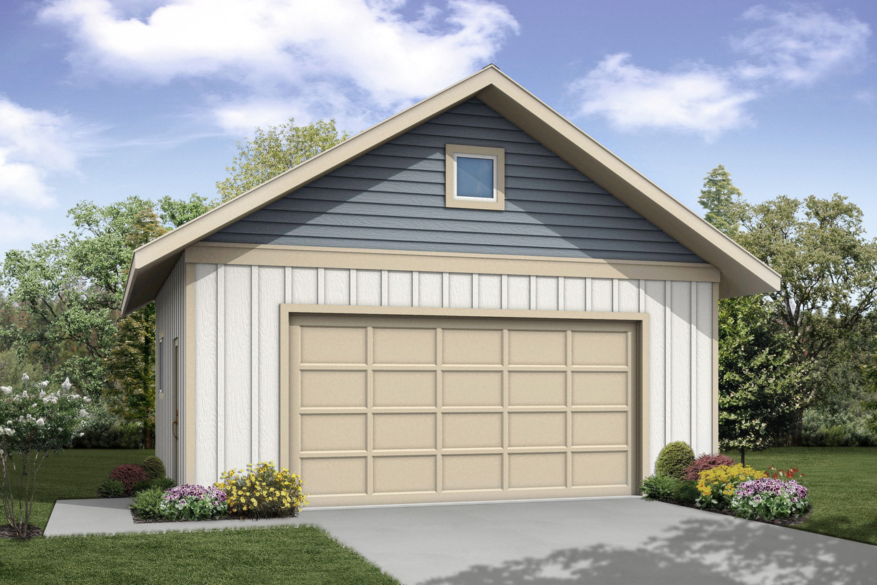 New Garage Plan, Garage Design, Garage 20-054, 2 Car Garage