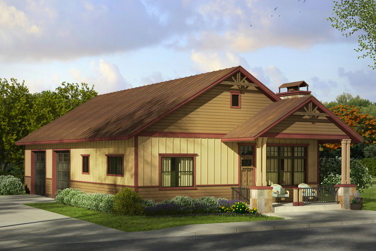 Cottage house plans garage w living 20 058 associated for Garage style homes