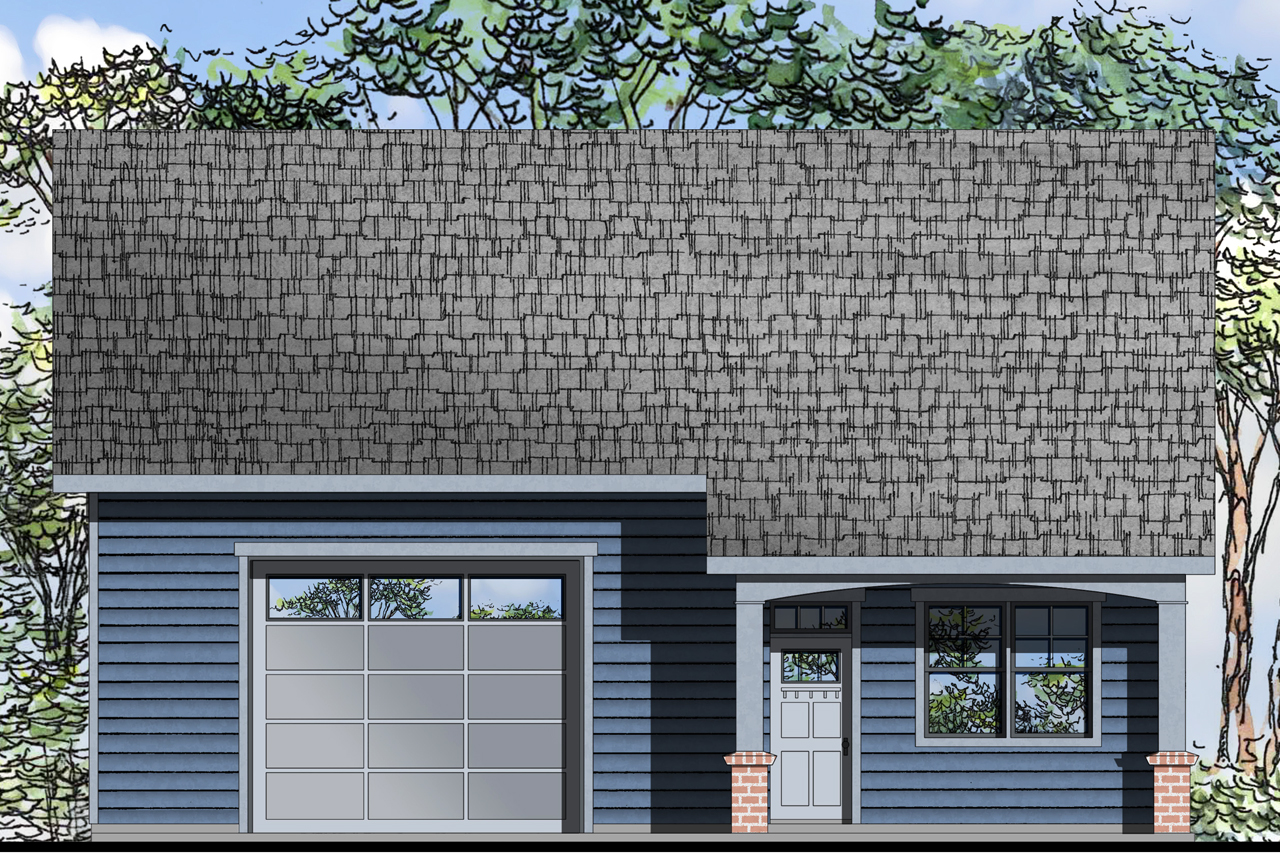 New garage plan offers extra living space associated designs for Live in garage plans