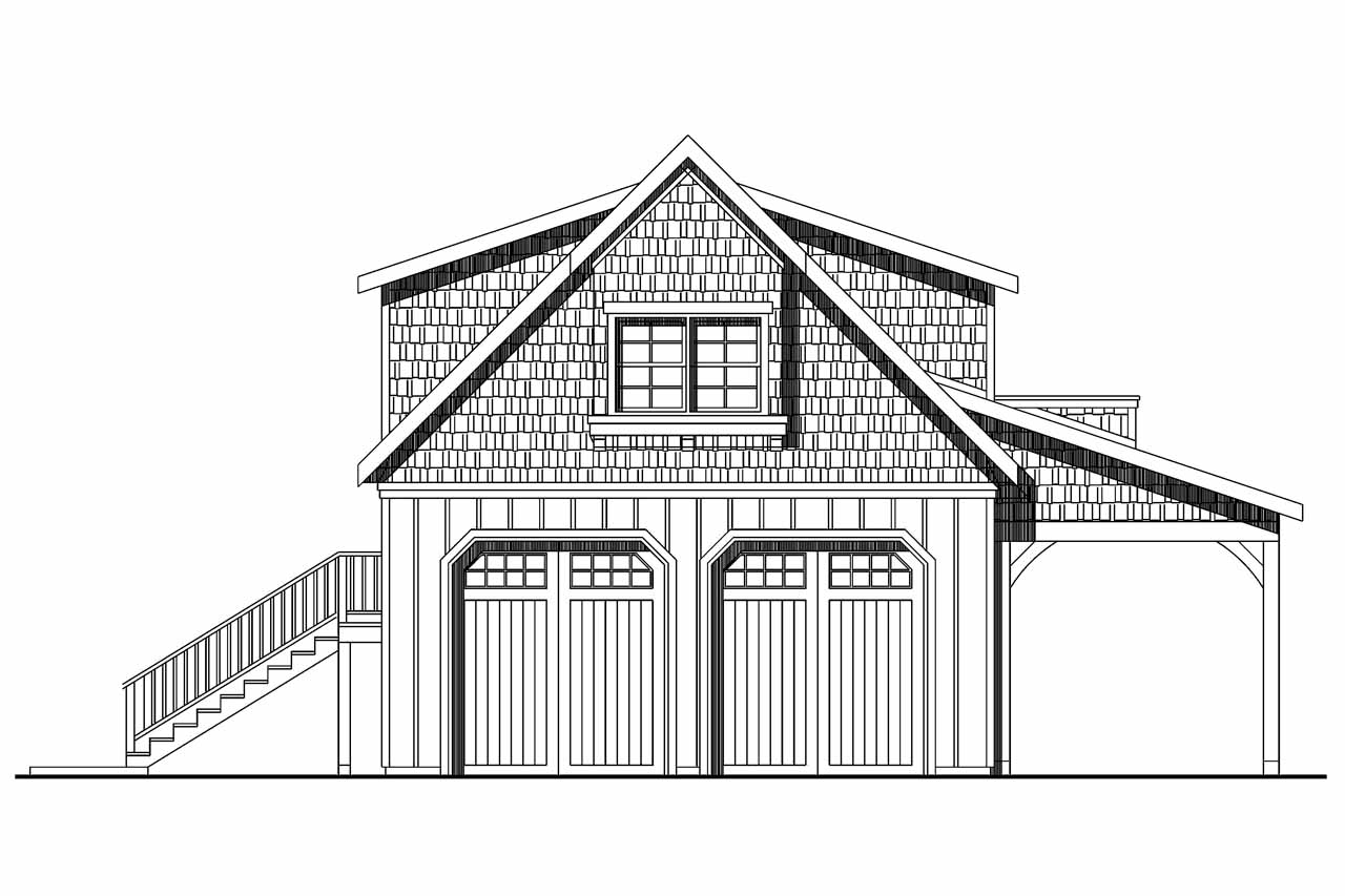 2 car garage plans with loft - Craftsman House Plans 2 Car Garage W Loft 20 077 Associated Designs