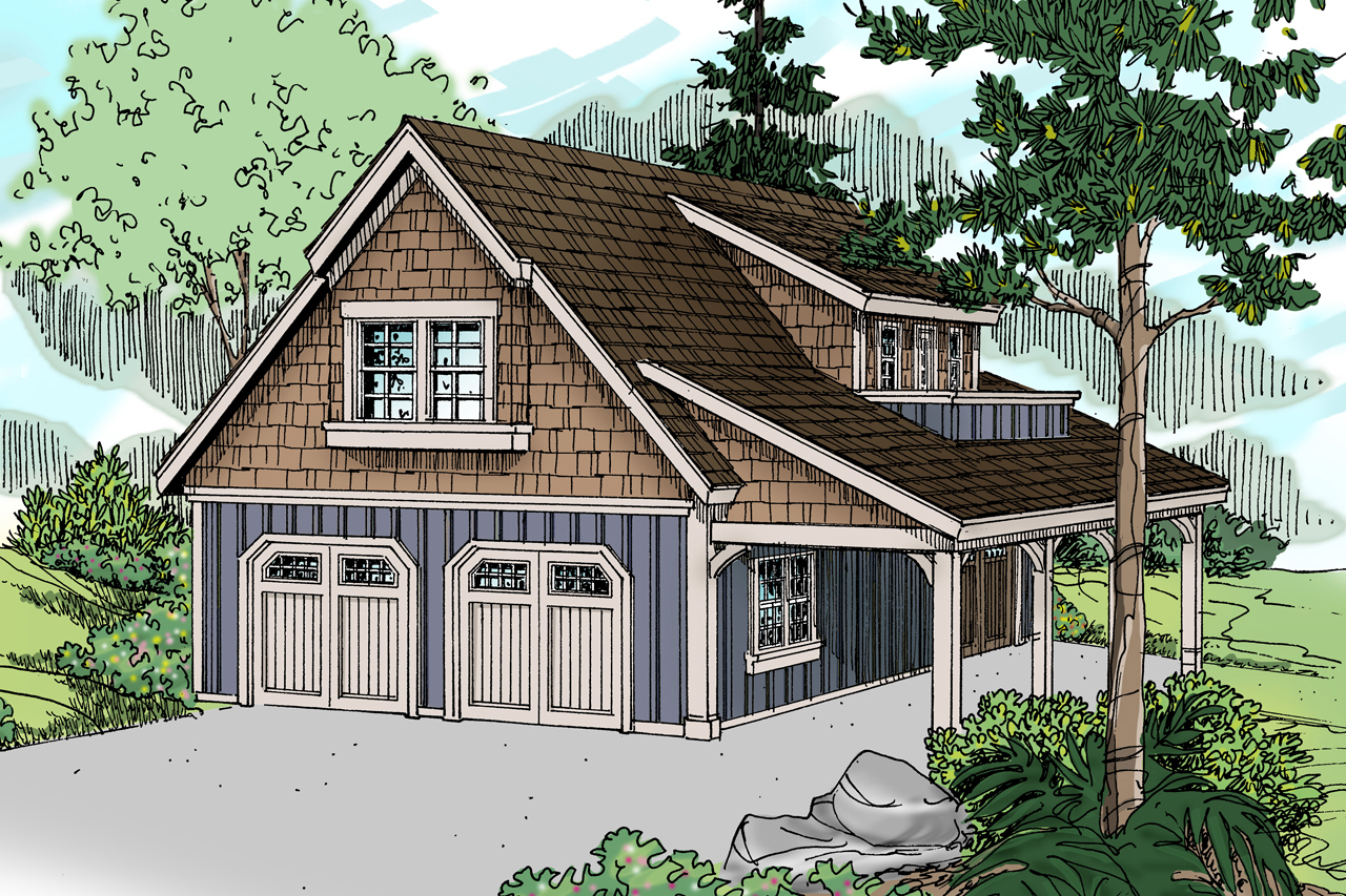 Craftsman house plans garage w living 20 080 for Garage designer