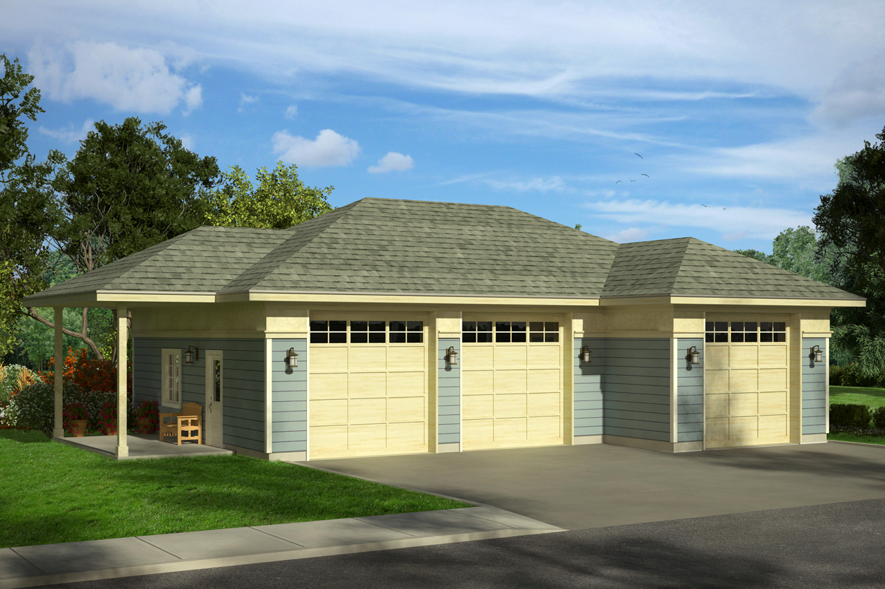 3 Car Garage Plan, Garage Design, Garage 20-081