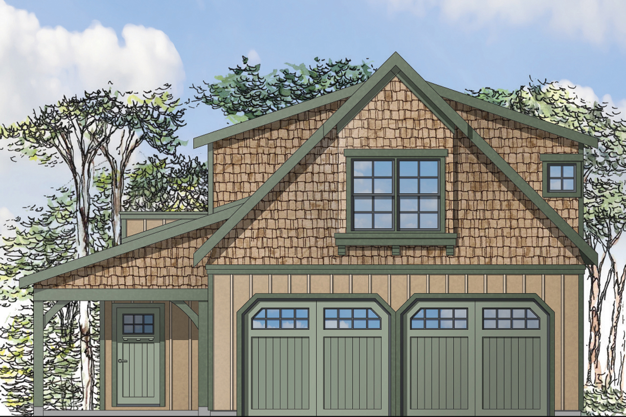 Garage Plan 20 119 Front Elevation