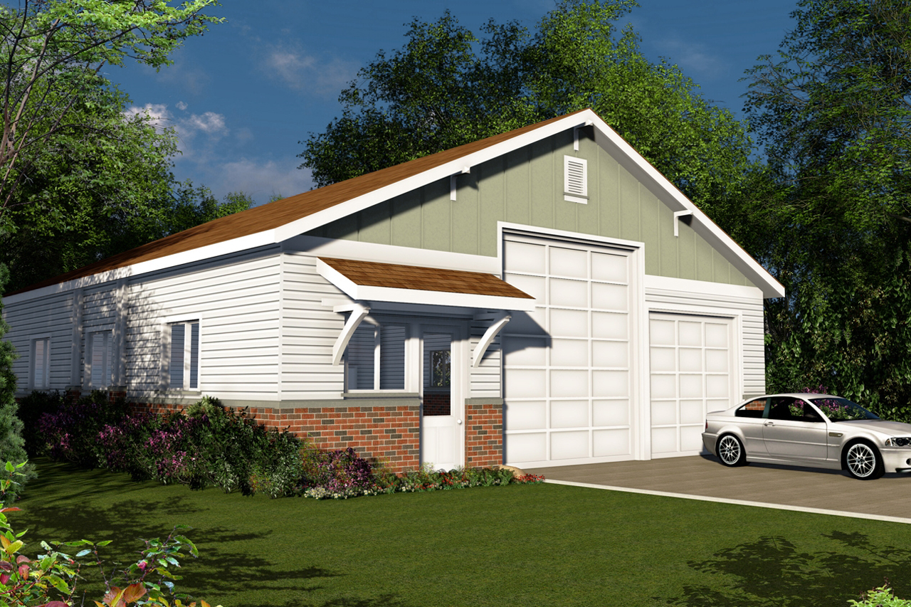 Traditional house plans rv garage 20 131 associated for Small home plans with garage