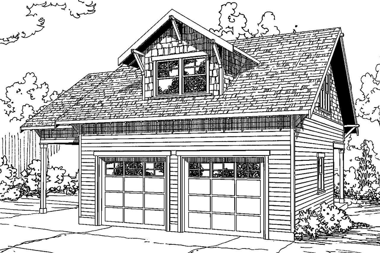 Garage with Living, 2 story garage plan, garage design, Garage 20-137