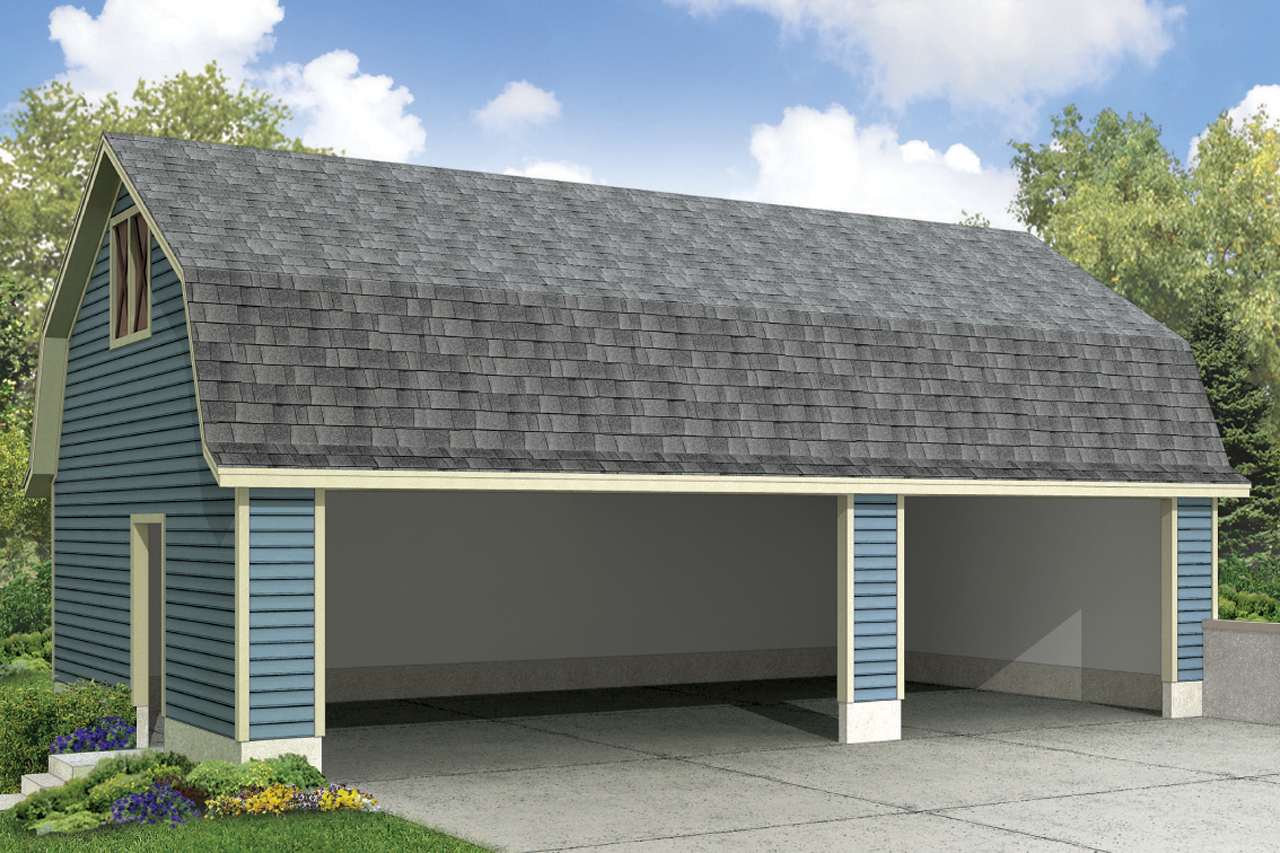 3 Car Garage Plan, Three Car Garage Plan, Barn Style Garage Plan, Country Style Garage Plan, Storage Shed