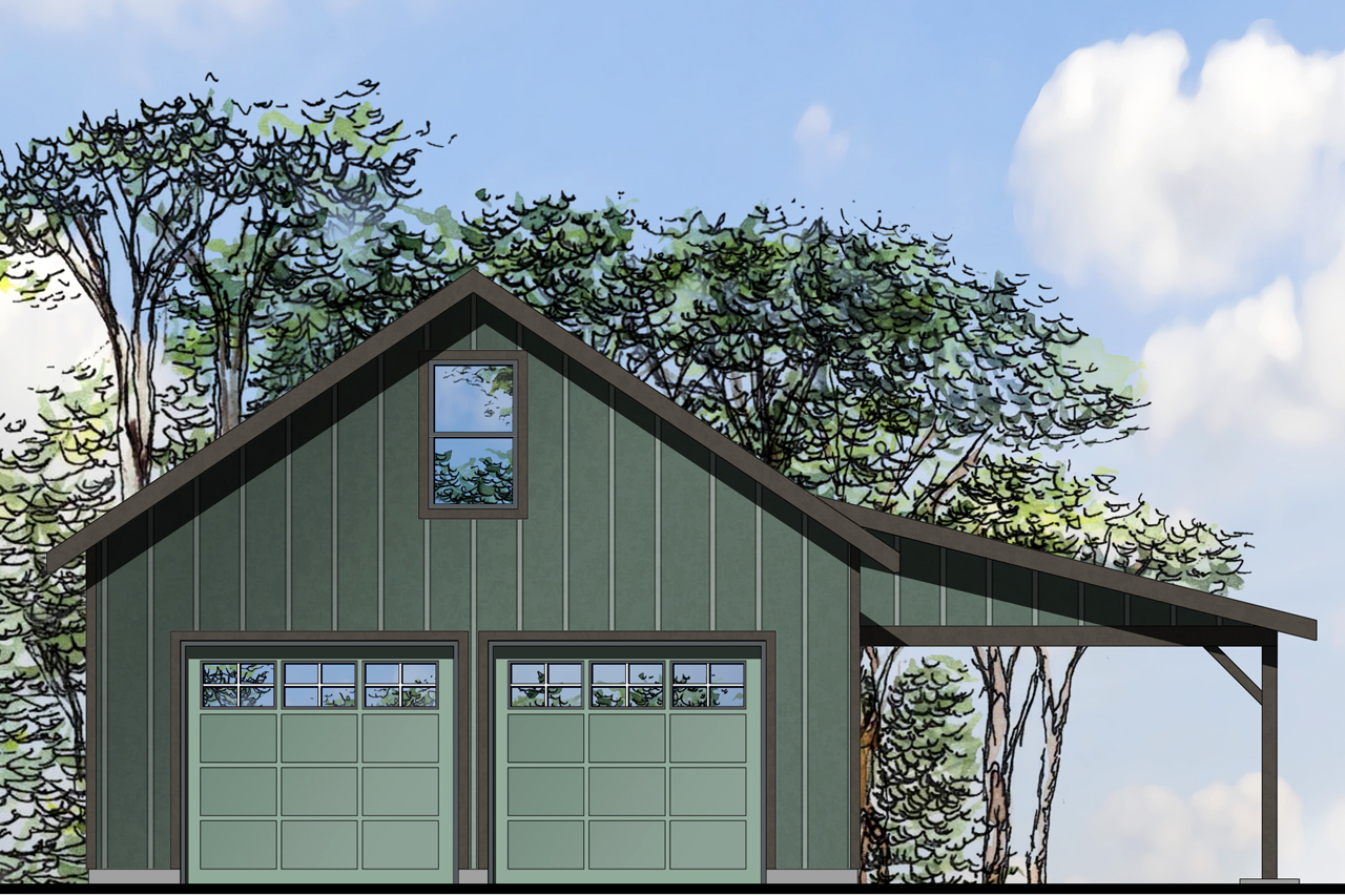Garage Plan 20-154 - Front Elevation