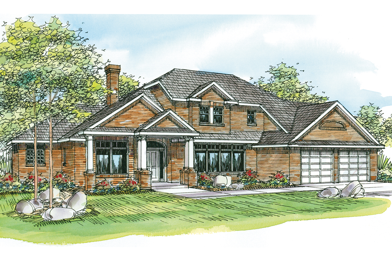 Georgian House Plan   Ainsworth 10 355   Front Elevation ...