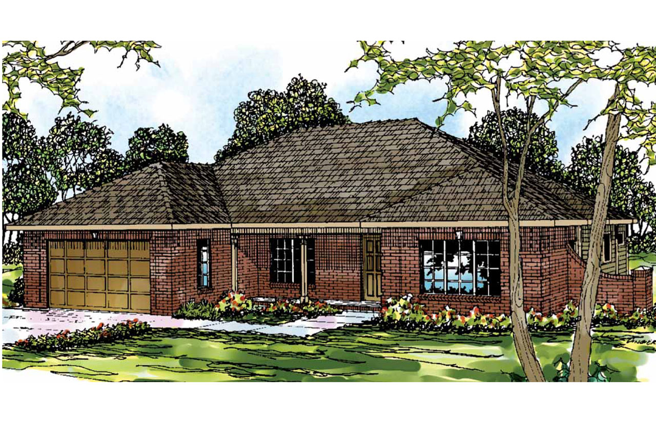 georgian house plan lewiston 30 053 front elevation - Georgian House Designs