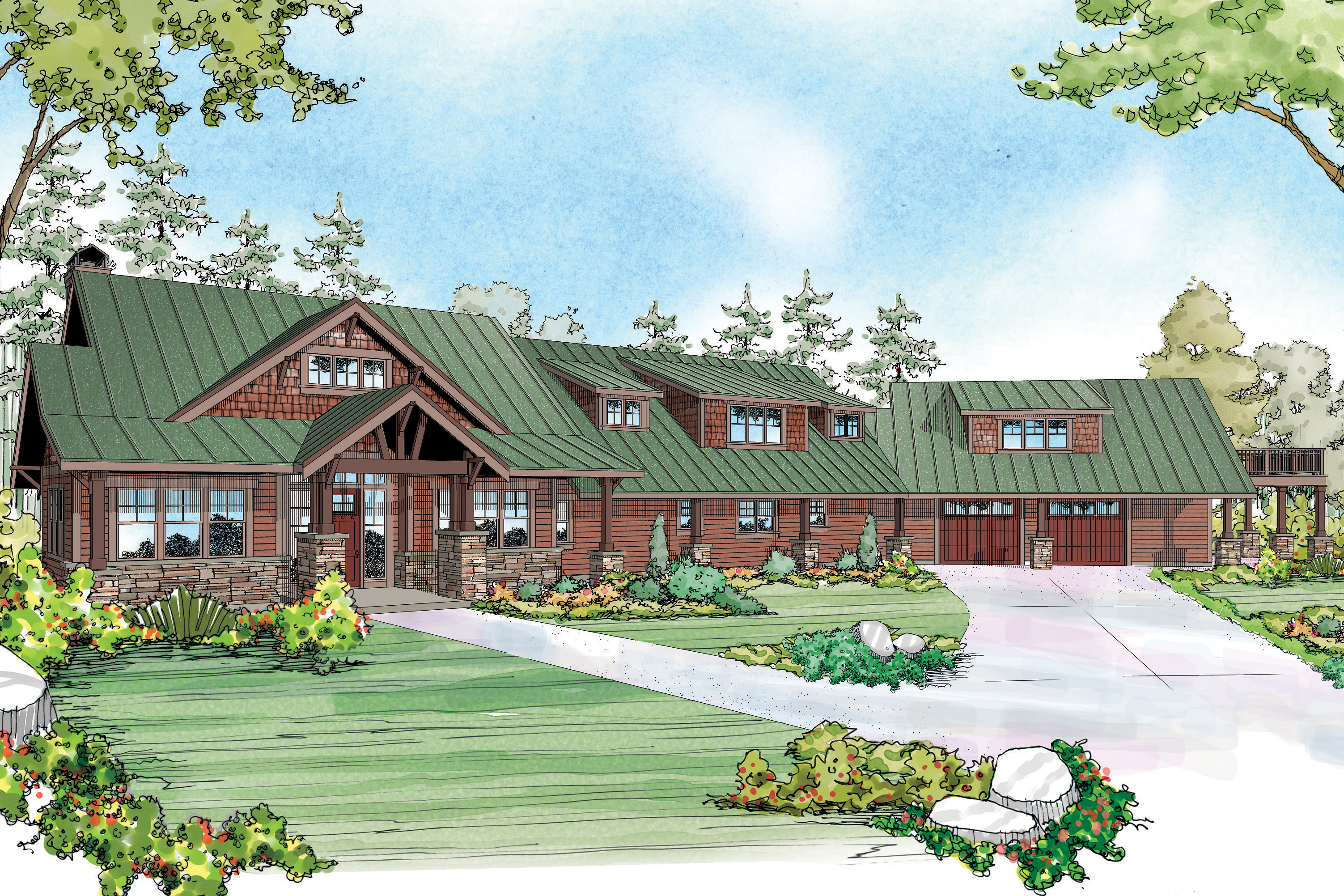Lodge Style House Plan, Home Plan, Barnhart 30-946, New Plan, Luxury House Plan