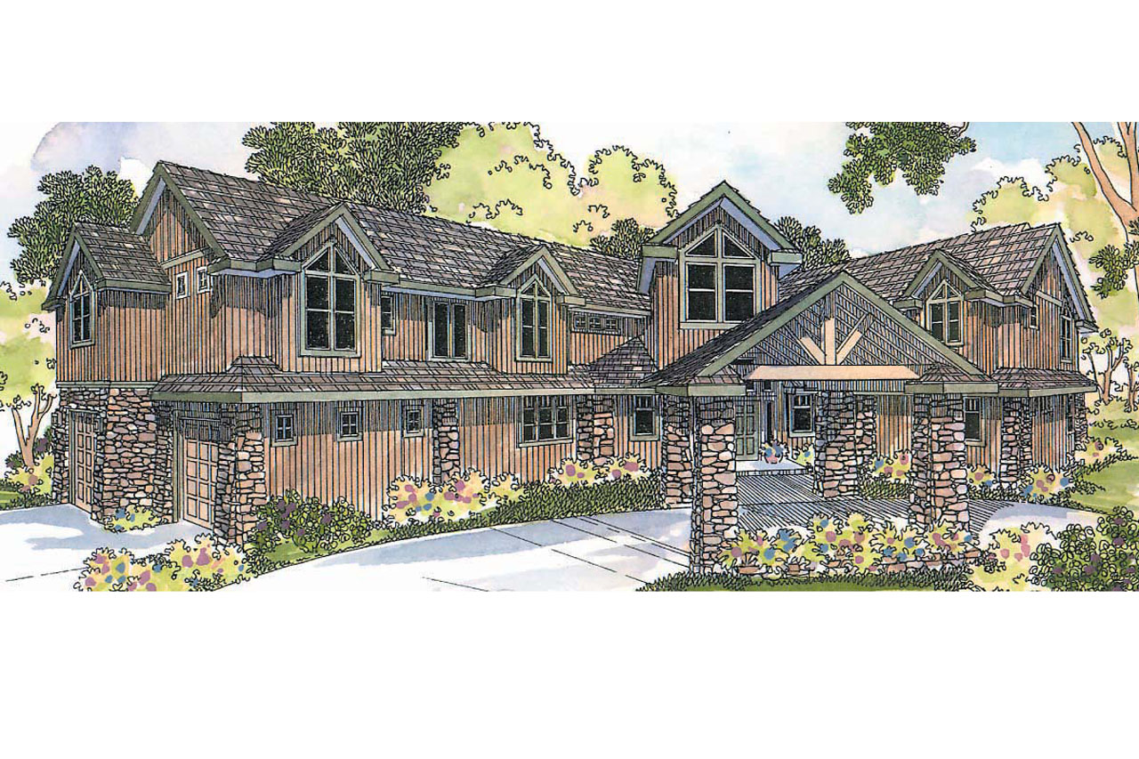 Lodge style house plans bentonville 30 275 associated for Lodge style home plans