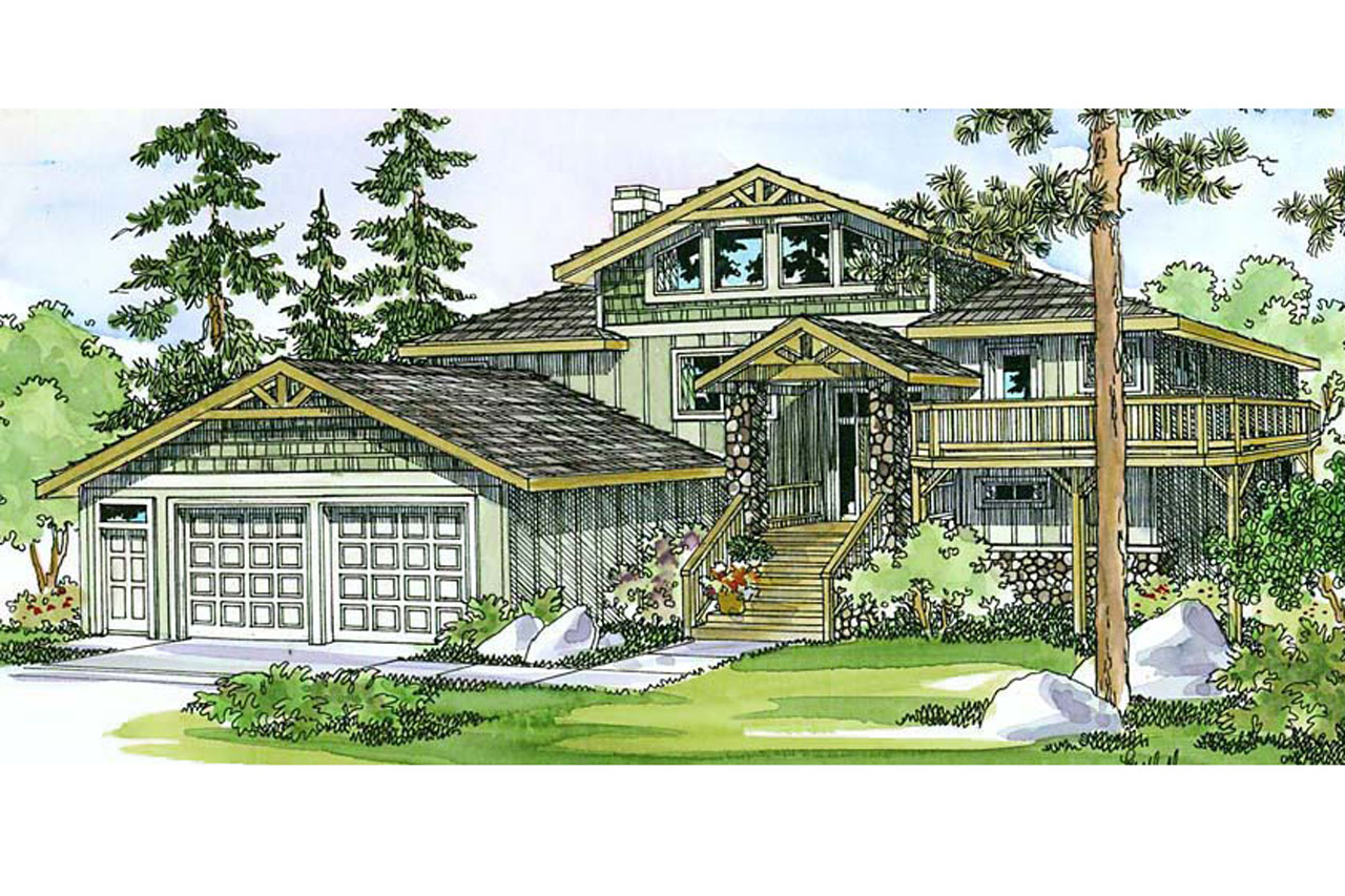 Lodge style house plans catkin 30 152 associated designs for Cabin style home plans