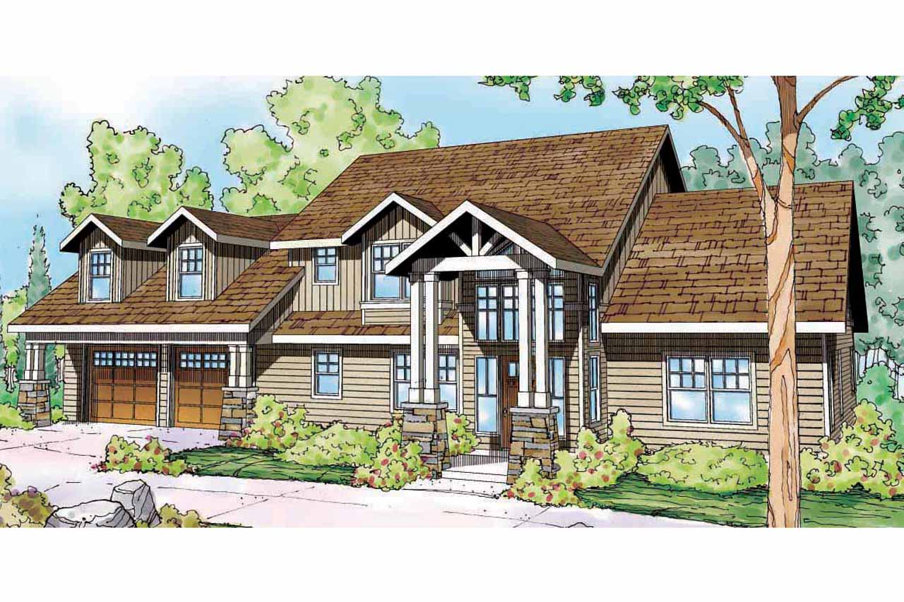 Lodge style house plans grand river 30 754 associated for Cabin style home plans