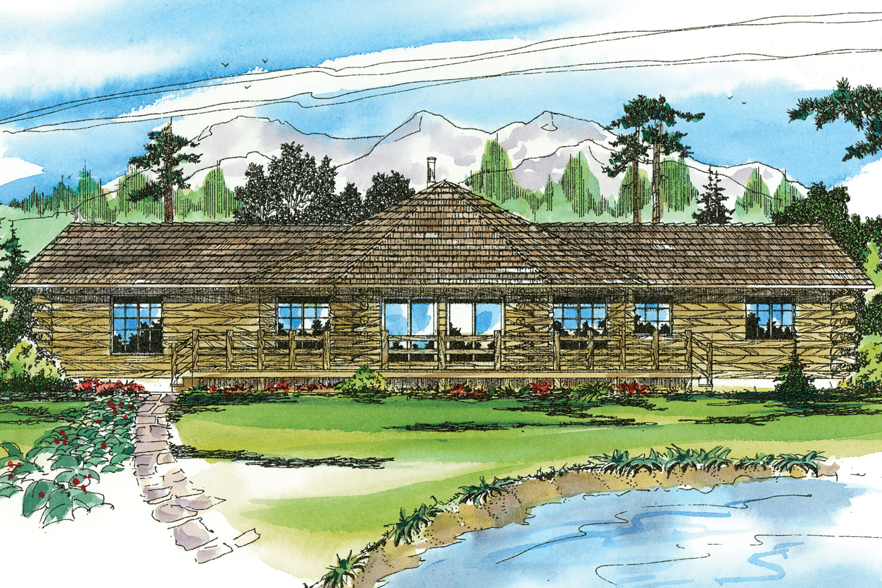 Featured House Plan of the Week, Ridgeline 10-062, Lodge House Plan, Home Plan
