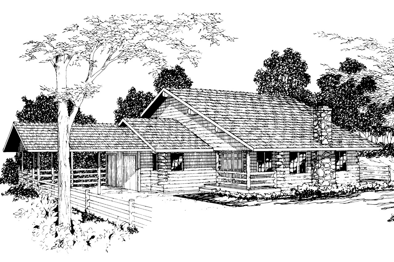 Lodge Style House Plans - Wickiup 30-116 - Associated Designs