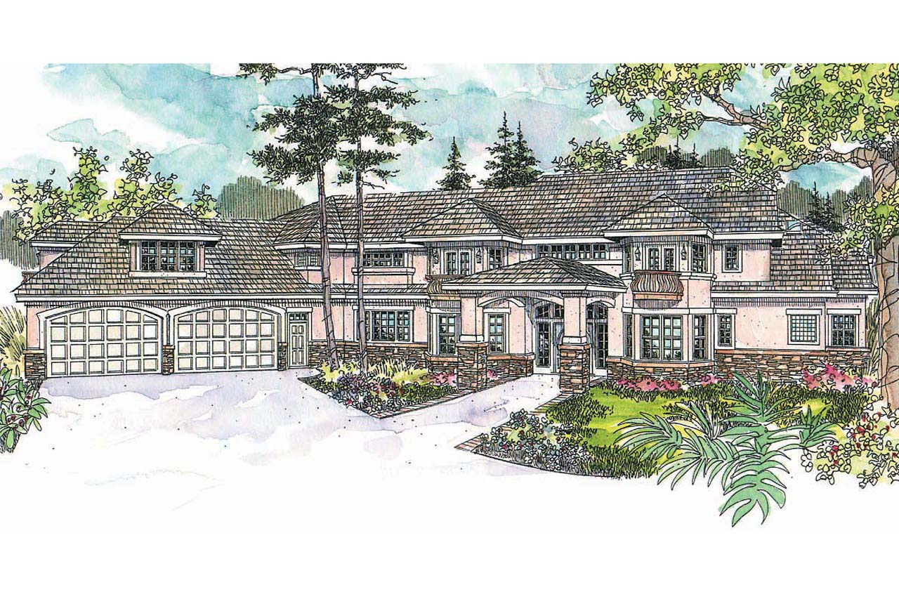 Mediterranean House Plan, Home Plan, Jacksonville 30-563, Estate House Plans