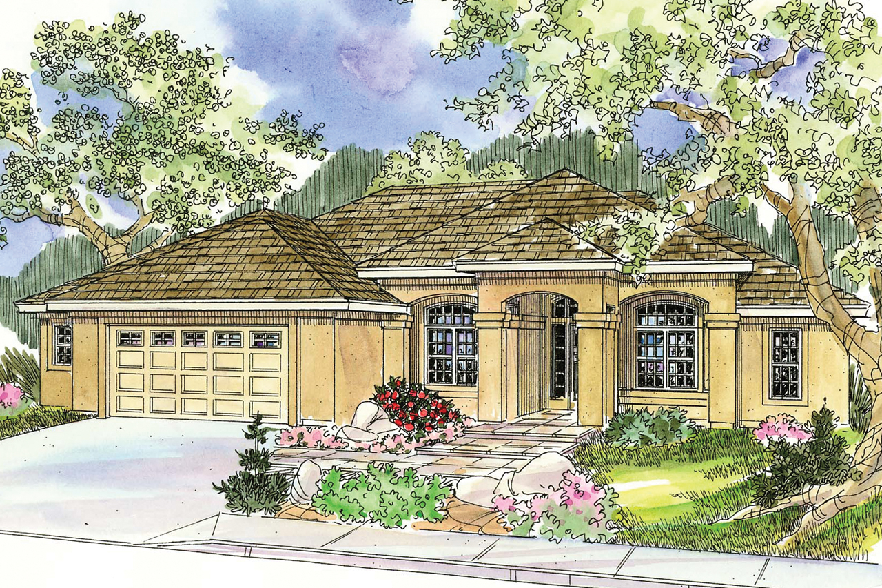 Mediterranean house plans mendocino 30 681 associated for Mediterranean house plans