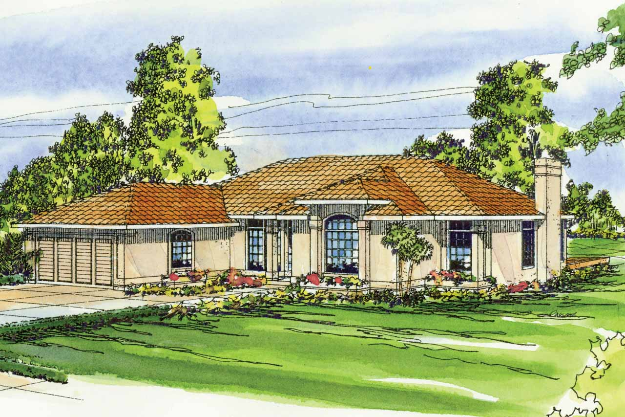 Mediterranean house plans plainview 11 079 associated for Mediterranean house designs and floor plans