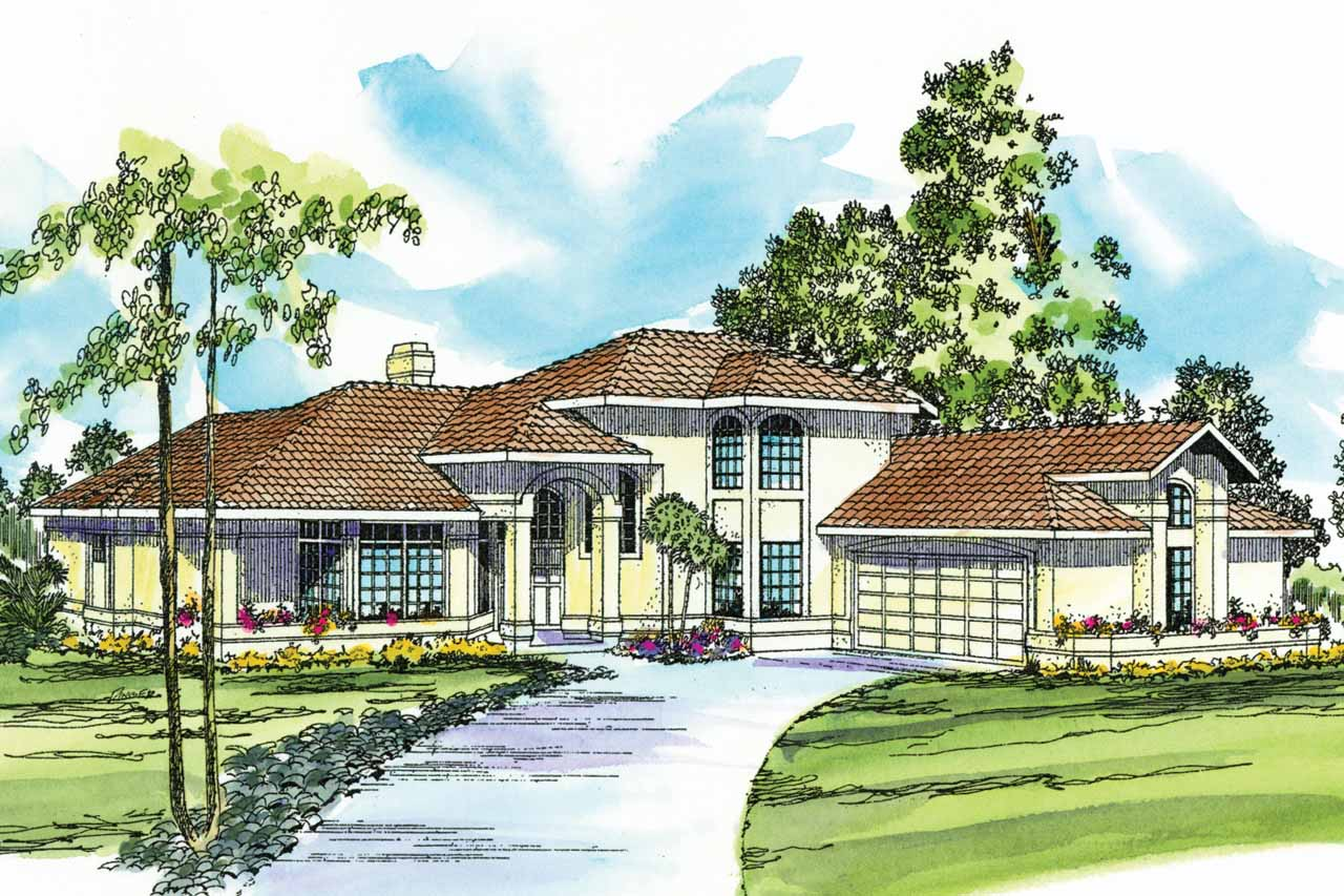 Mediterranean house plans st petersburg 11 071 for Mediterranean house designs and floor plans