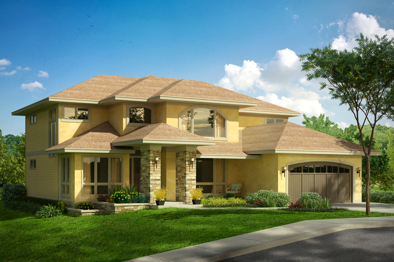 Mediterranean Front Elevation : Mediterranean house plans summerdale associated