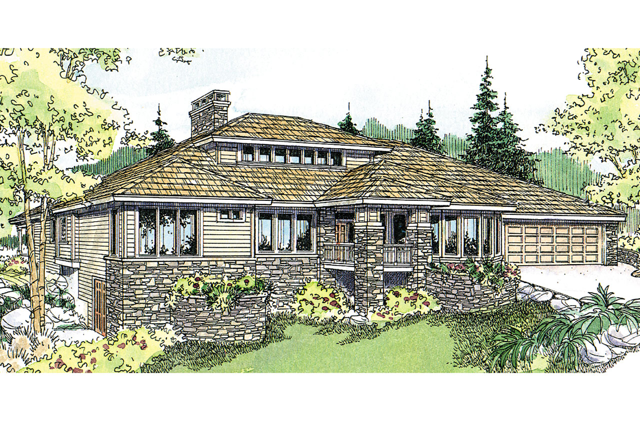 Prairie style house plans elmhurst 30 452 associated for Prairie style house plans