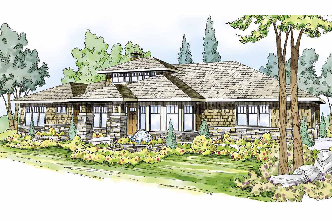 Prairie Style House Plans - Metolius 30-746 - Associated Designs