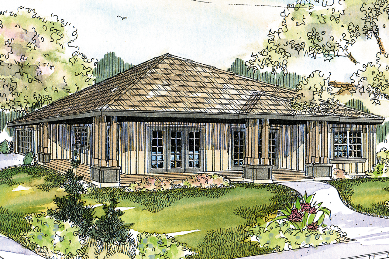 Prairie Style House Plans - Sahalie 30-768 - Associated Designs