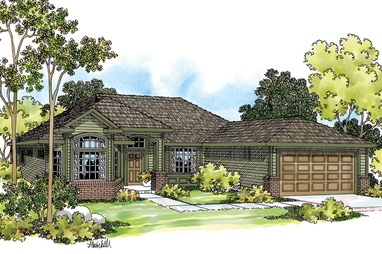 Ranch House Plan - Arvada 30-261 - Front Elevation