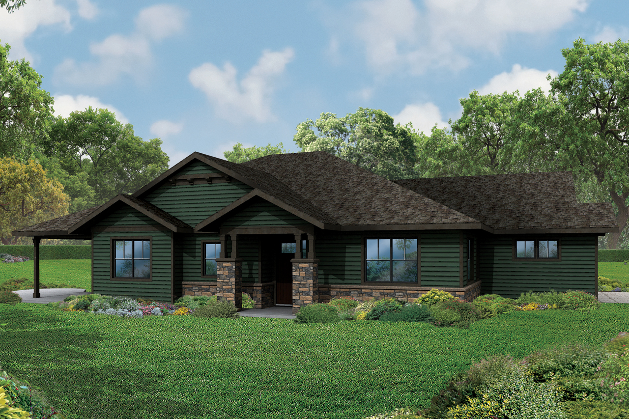 New ranch house plan the baileyville has craftsman Rancher homes
