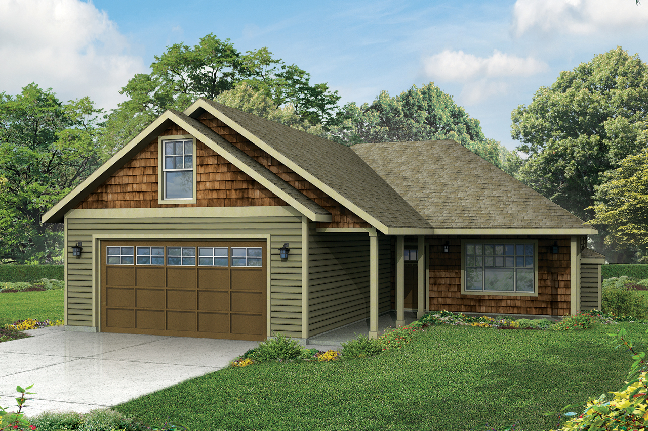 ranch house plan belmont 30 945 front elevation - Small Ranch House Plans