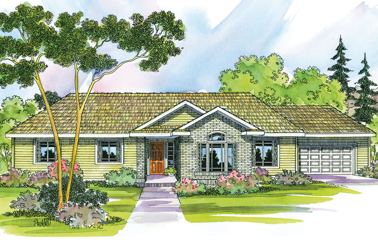 Ranch House Plan - Elliot 30-278 - Front Elevation