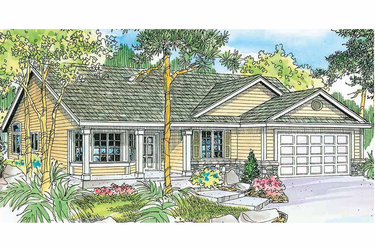 Ranch House Plan - Granbury 30-662 - Front Elevation