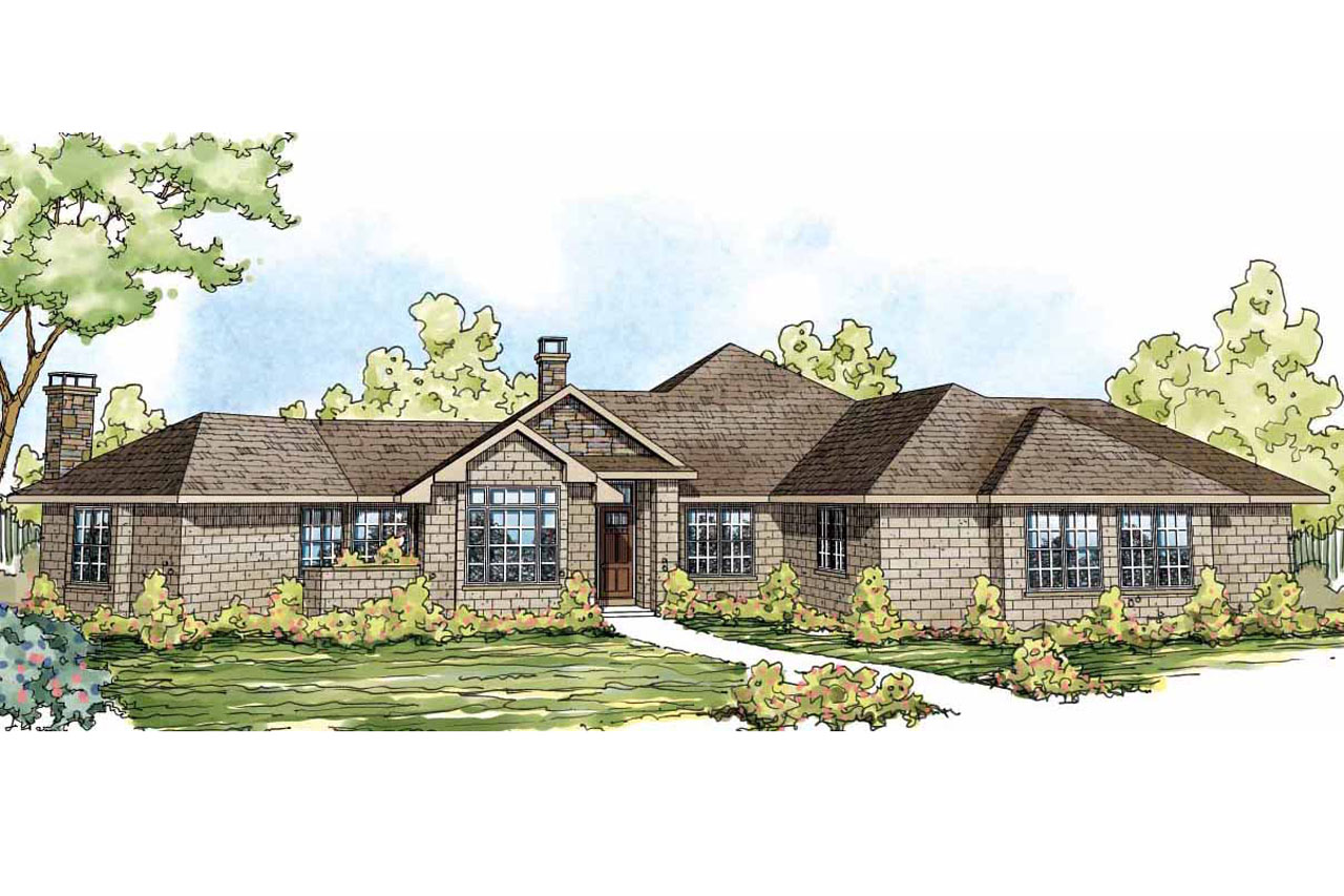 Ranch house plans hillcrest 10 557 associated designs for Ranch plans