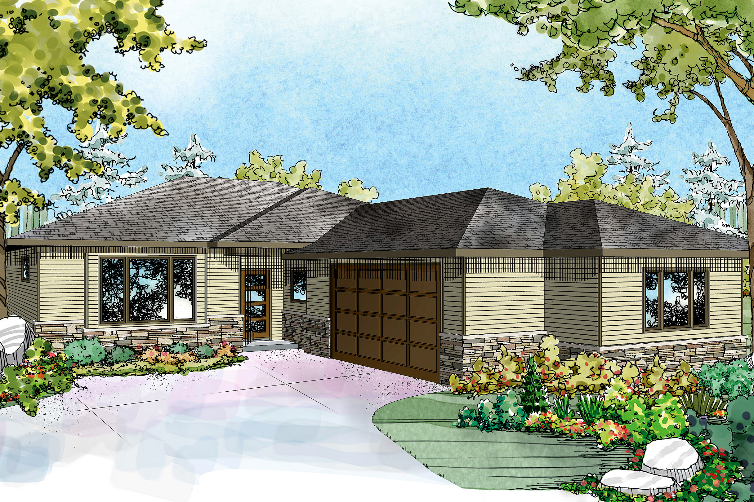 Ranch House Plan   Lostine 30 942   Front Elevation ...