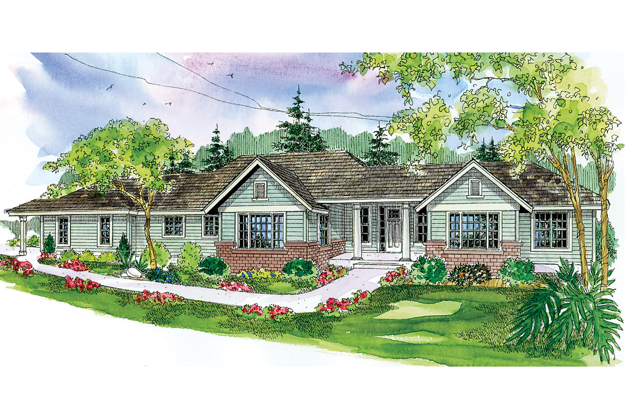Ranch House Plan, Home Plan, Parkdale 30-684