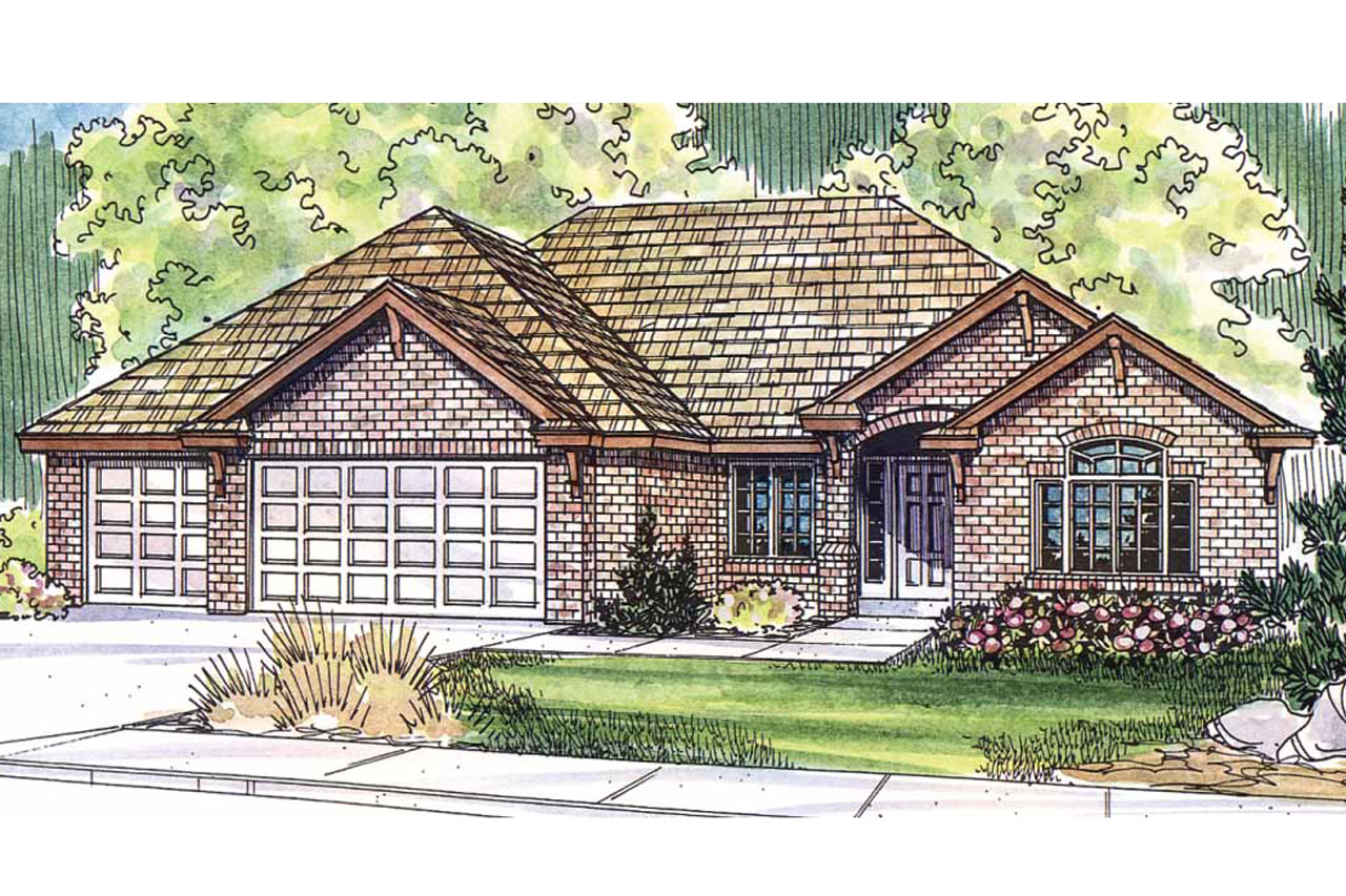 Ranch House Plan, Home Plan, Ryland 30-336