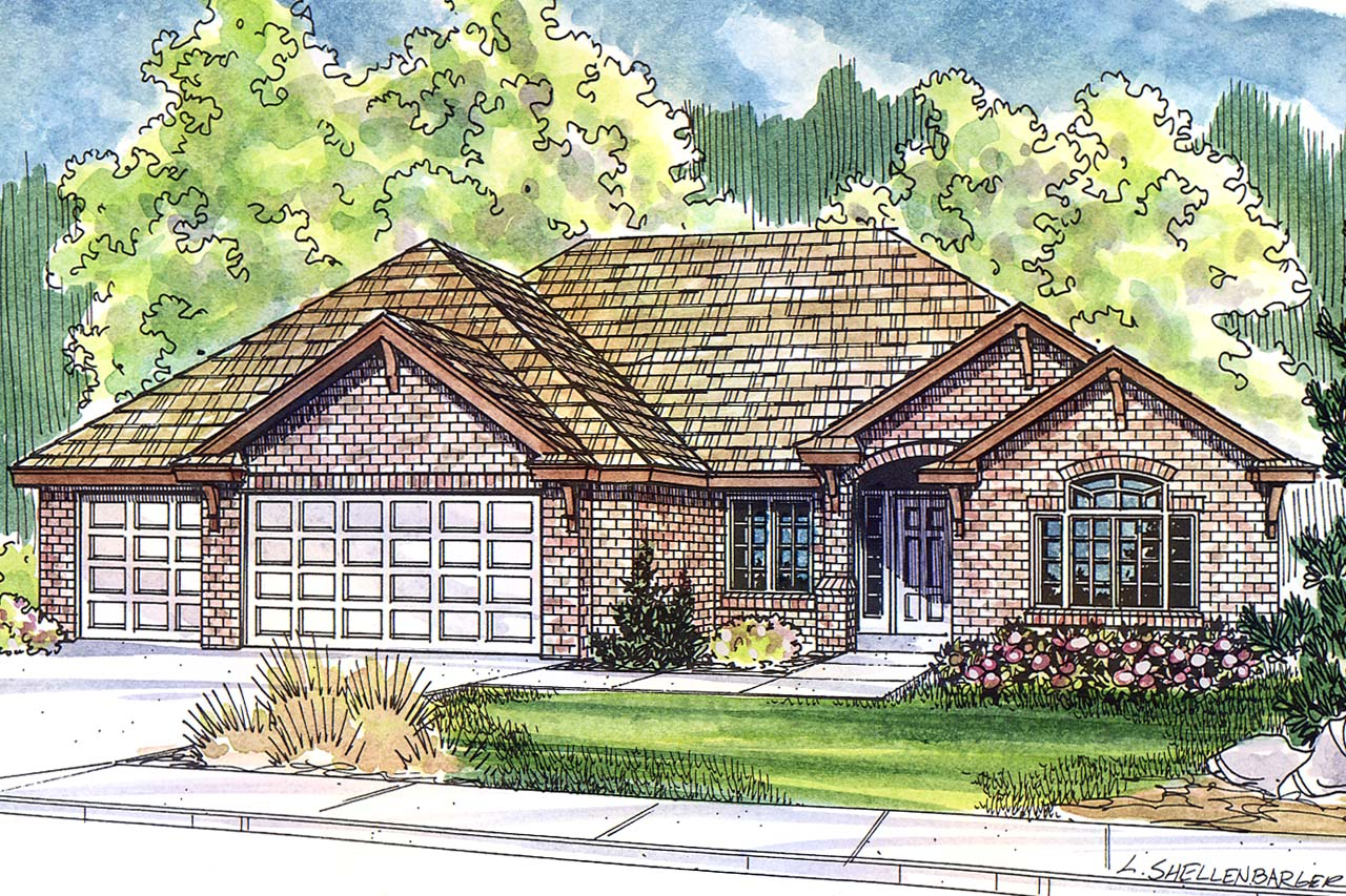 Ryland Home Plans Ranch House Plans  Ryland 30336  Associated Designs