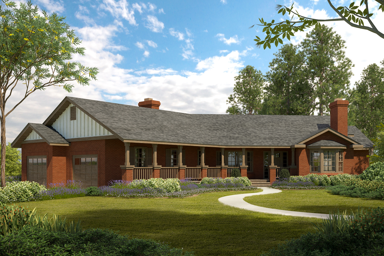 family friendly living in the saginaw ranch style house plan