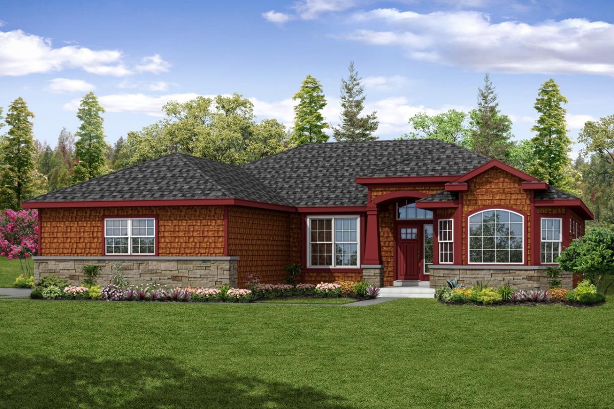 New shingle style ranch house plan is charming and for Shingle home plans