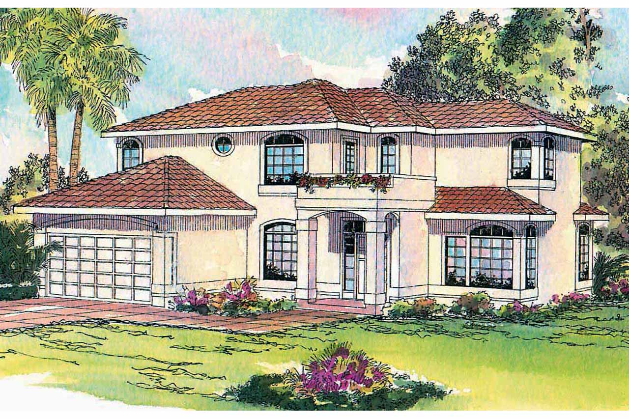 Southwest House Plan - Bellaire 11-050 - Front Elevation