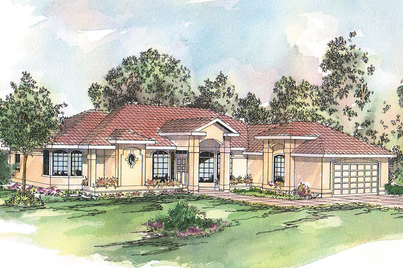 Spanish style house plans richmond 11 048 associated for Spanish house plans
