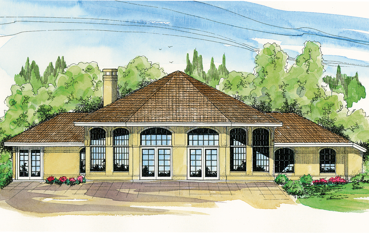 Spanish style house plans santa ana 11 148 associated for Mansion plan