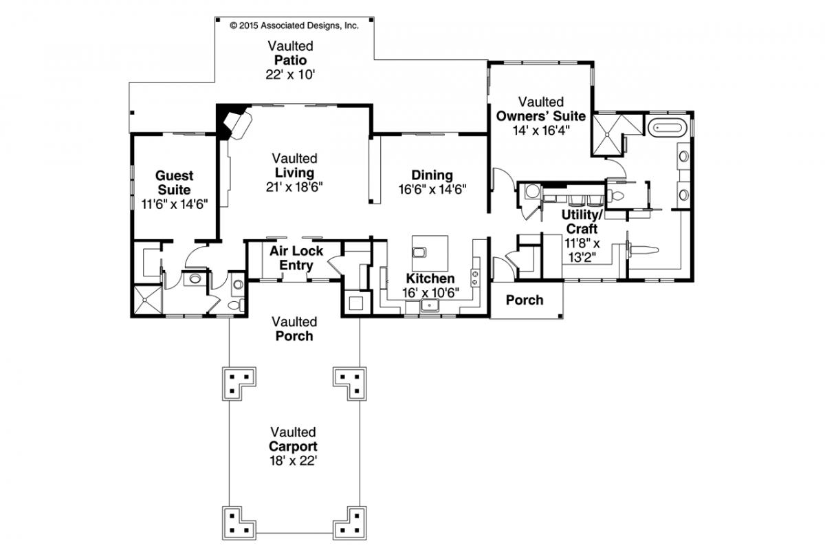 Tetherow 31-019, Craftsman Floor Plan