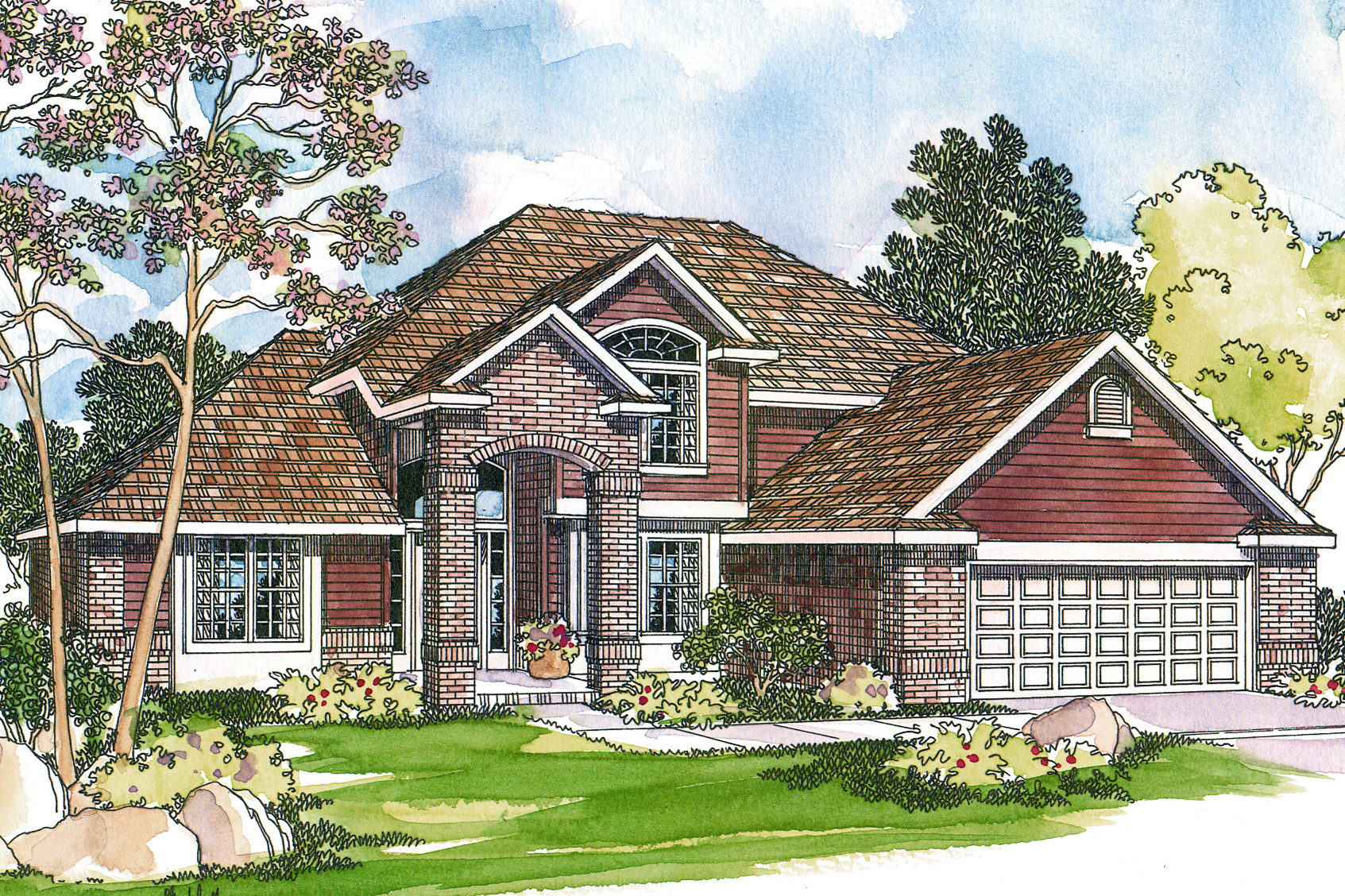 Traditional House Plan, Home Plan, Coleridge 30-251, 3 Bedrooms, View House Plan