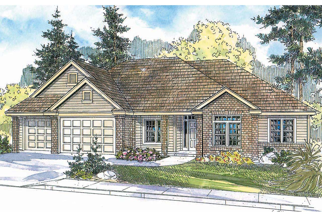 Traditional House Plan - Spencer 30-537 - Front Elevation